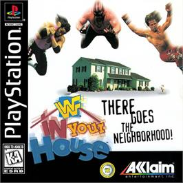 Box cover for WWF in Your House on the Sony Playstation.