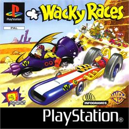 Box cover for Wacky Races on the Sony Playstation.