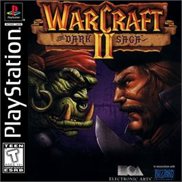 Box cover for Warcraft II: The Dark Saga on the Sony Playstation.