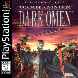 Box cover for Warhammer: Dark Omen on the Sony Playstation.
