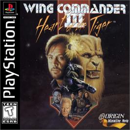 Box cover for Wing Commander III: Heart of the Tiger on the Sony Playstation.