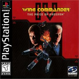 Box cover for Wing Commander IV: The Price of Freedom on the Sony Playstation.