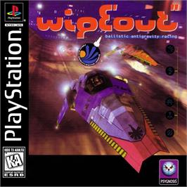 Box cover for Wipeout on the Sony Playstation.