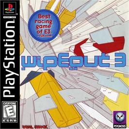 Box cover for Wipeout 3 on the Sony Playstation.