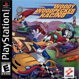 Box cover for Woody Woodpecker Racing on the Sony Playstation.