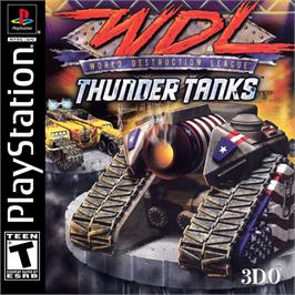 Box cover for World Destruction League: Thunder Tanks on the Sony Playstation.