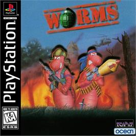 Box cover for Worms on the Sony Playstation.
