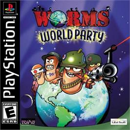 Box cover for Worms World Party on the Sony Playstation.