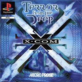 Box cover for X-COM: Terror from the Deep on the Sony Playstation.