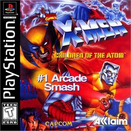 Box cover for X-Men: Children of the Atom on the Sony Playstation.