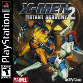 Box cover for X-Men: Mutant Academy 2 on the Sony Playstation.