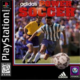 Box cover for adidas Power Soccer on the Sony Playstation.