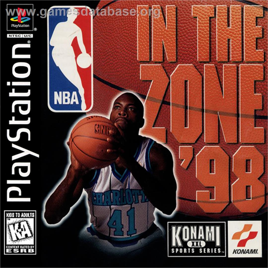 NBA in the Zone '98 - Sony Playstation - Artwork - Box