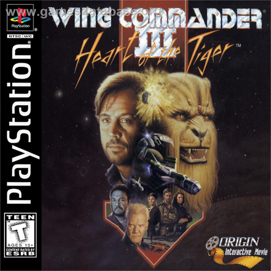 Box cover for Wing Commander III: Heart of the Tiger on the Sony