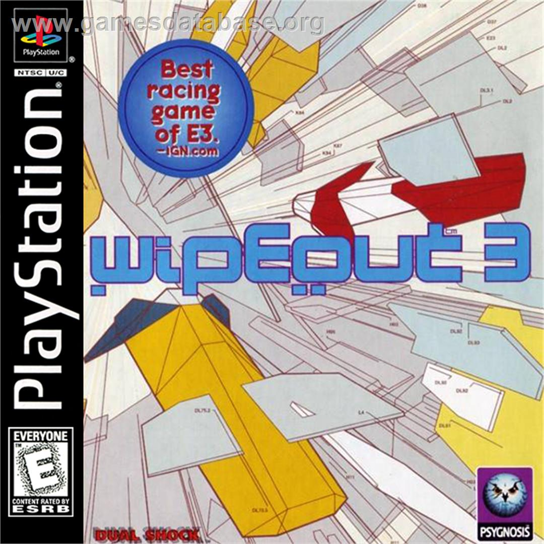 Wipeout 3 - Sony Playstation - Artwork - Box