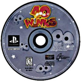 Artwork on the CD for 40 Winks on the Sony Playstation.