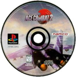 Artwork on the CD for Ace Combat 2 on the Sony Playstation.