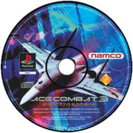 Artwork on the CD for Ace Combat 3: Electrosphere on the Sony Playstation.