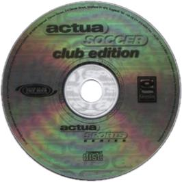 Artwork on the CD for Actua Soccer: Club Edition on the Sony Playstation.