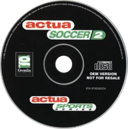 Artwork on the CD for Actua Soccer 2 on the Sony Playstation.