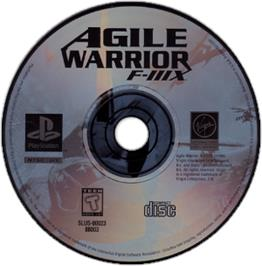 Artwork on the CD for Agile Warrior: F-111X on the Sony Playstation.