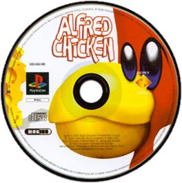 Artwork on the CD for Alfred Chicken on the Sony Playstation.