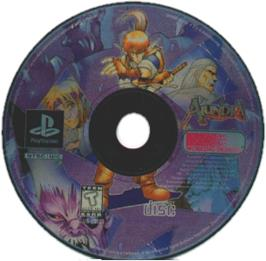 Artwork on the CD for Alundra on the Sony Playstation.