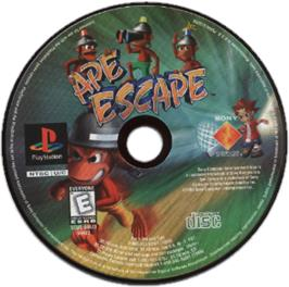 Artwork on the CD for Ape Escape on the Sony Playstation.