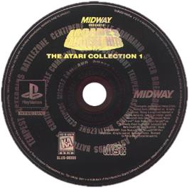 Artwork on the CD for Arcade's Greatest Hits: The Atari Collection 1 on the Sony Playstation.
