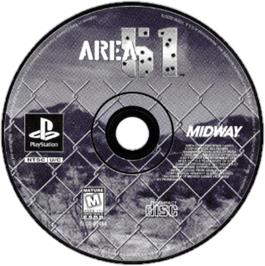 Artwork on the CD for Area 51 on the Sony Playstation.
