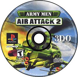 Artwork on the CD for Army Men: Air Attack 2 on the Sony Playstation.