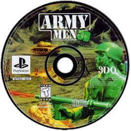 Artwork on the CD for Army Men 3D on the Sony Playstation.