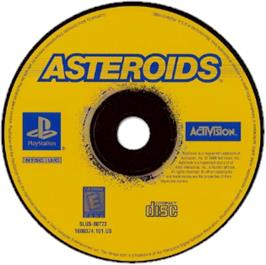 Artwork on the CD for Asteroids on the Sony Playstation.