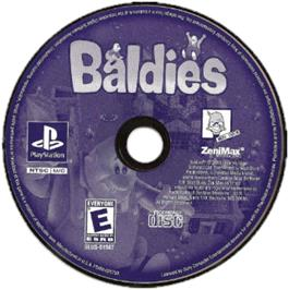 Artwork on the CD for Baldies on the Sony Playstation.