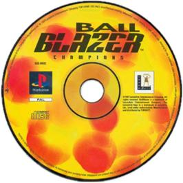 Artwork on the CD for Ballblazer Champions on the Sony Playstation.