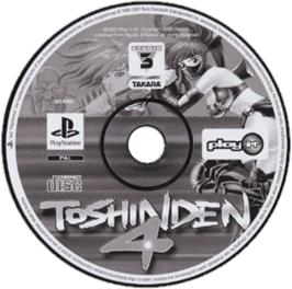Artwork on the CD for Battle Arena Toshinden 4 on the Sony Playstation.