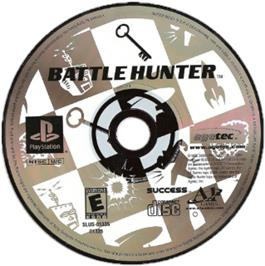 Artwork on the CD for Battle Hunter on the Sony Playstation.