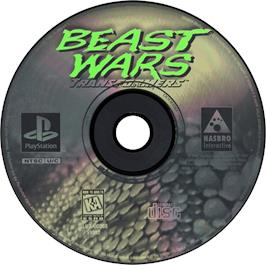 Artwork on the CD for Beast Wars: Transformers on the Sony Playstation.