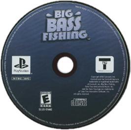 Artwork on the CD for Big Bass Fishing on the Sony Playstation.