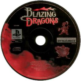 Artwork on the CD for Blazing Dragons on the Sony Playstation.