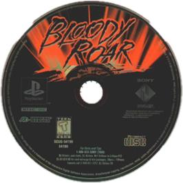 Artwork on the CD for Bloody Roar on the Sony Playstation.