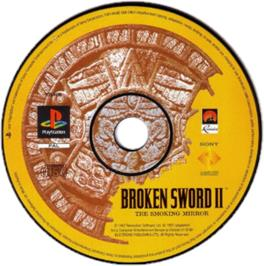 Artwork on the CD for Broken Sword 2: The Smoking Mirror on the Sony Playstation.
