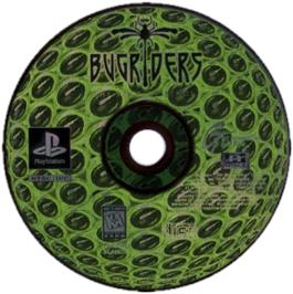 Artwork on the CD for BugRiders: The Race of Kings on the Sony Playstation.