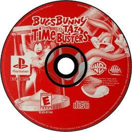 Artwork on the CD for Bugs Bunny & Taz: Time Busters on the Sony Playstation.