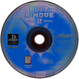 Artwork on the CD for Bust-A-Move 2: Arcade Edition on the Sony Playstation.