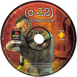 Artwork on the CD for C: The Contra Adventure on the Sony Playstation.