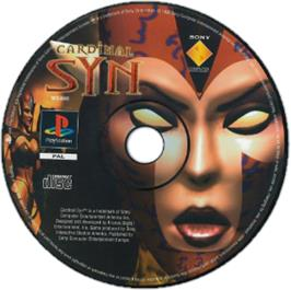 Artwork on the CD for Cardinal Syn on the Sony Playstation.