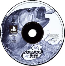 Artwork on the CD for Championship Bass on the Sony Playstation.