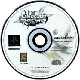Artwork on the CD for Chocobo Racing on the Sony Playstation.