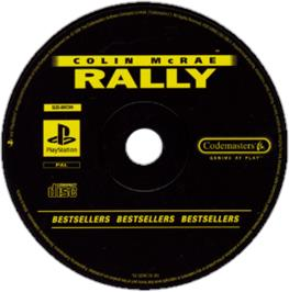 Artwork on the CD for Colin McRae Rally on the Sony Playstation.